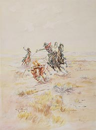 Cowboys Roping a Steer, 1904 by Charles Marion Russell | Painting Reproduction