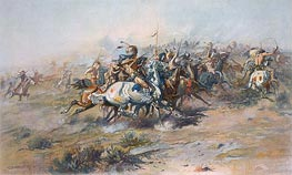 The Custer Fight, c.1903/05 von Charles Marion Russell | Gemälde-Reproduktion
