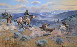 Loops and Swift Horses are Surer than Lead | Charles Marion Russell | Painting Reproduction