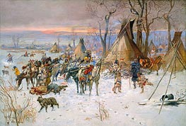 Indian Hunters' Return, 1900 by Charles Marion Russell | Painting Reproduction