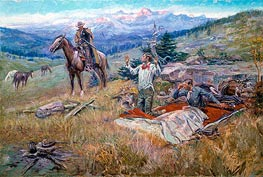 The Call of the Law | Charles Marion Russell | Painting Reproduction