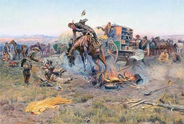 The Camp Cook's Troubles | Charles Marion Russell | Painting Reproduction