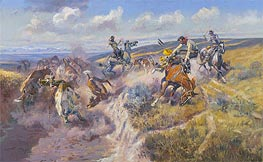 A Tight Dally and a Loose Latigo | Charles Marion Russell | Painting Reproduction