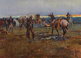 When Horses Talk There's Slim Chance for Truce | Charles Marion Russell | Painting Reproduction