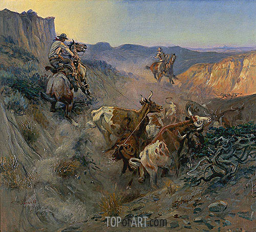 The Slick Ear, 1914 | Charles Marion Russell | Painting Reproduction