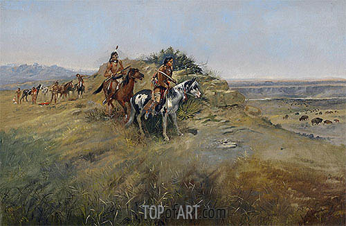 Buffalo Hunt, 1891 | Charles Marion Russell | Painting Reproduction