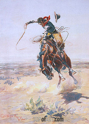 A Bad Hoss, 1904 | Charles Marion Russell | Painting Reproduction