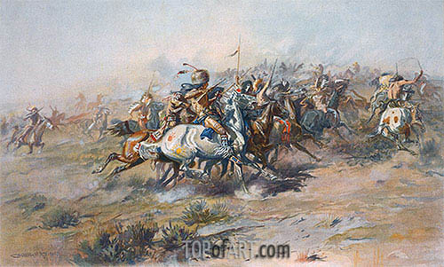 The Custer Fight, c.1903/05 | Charles Marion Russell | Painting Reproduction