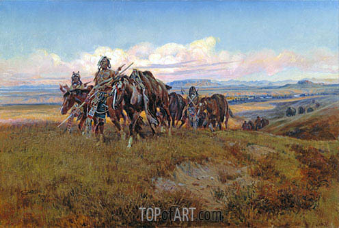 In the Enemy's Country, 1921 | Charles Marion Russell | Painting Reproduction