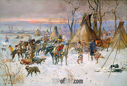 Indian Hunters' Return, 1900 | Charles Marion Russell | Painting Reproduction
