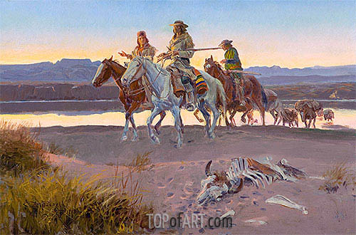 Carson's Men, 1913 | Charles Marion Russell | Painting Reproduction