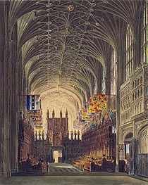 Interior of St. George's Chapel, Windsor Castle, 1819 von Charles Wild | Gemälde-Reproduktion