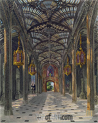 The Conservatory at Carlton House from Pyne's Royal Residences, 1819 | Charles Wild | Painting Reproduction