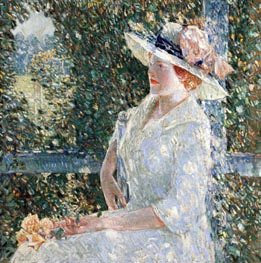 An Outdoor Portrait of Miss Weir | Hassam | Painting Reproduction