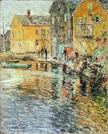The Smelt Fishers, Cos Cob | Hassam | Painting Reproduction