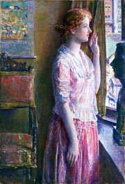 Easter Morning (Portrait at a New York Window), 1921 von Hassam | Gemälde-Reproduktion