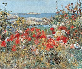 Celia Thaxter's Garden, Isles of Shoals, Maine | Hassam | Painting Reproduction