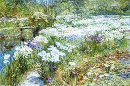 The Water Garden | Hassam | Painting Reproduction