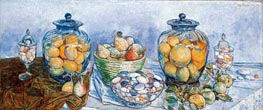Long Island Pebbles and Fruit | Hassam | Painting Reproduction