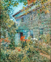 Old House and Garden, East Hampton, 1898 von Hassam | Gemälde-Reproduktion