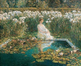 Lilies | Hassam | Painting Reproduction