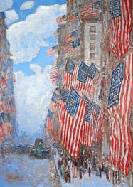 The Fourth of July, 1916 | Hassam | Painting Reproduction