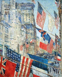 Allies Day, May 1917, 1917 by Hassam | Painting Reproduction