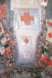 Red Cross Drive, May 1918 (Celebration Day), 1918 by Hassam | Painting Reproduction
