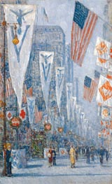 Victory Day, May 1919, 1919 by Hassam | Painting Reproduction