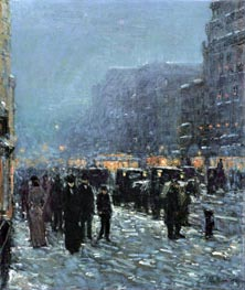 Broadway and 42nd Street, 1902 by Hassam | Painting Reproduction