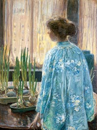 The Table Garden, 1910 by Hassam | Painting Reproduction