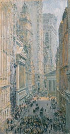 Lower Manhattan (View Down Broad Street), 1907 by Hassam | Painting Reproduction
