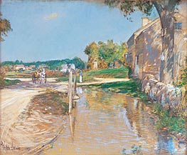 A Country Road, 1891 by Hassam | Painting Reproduction