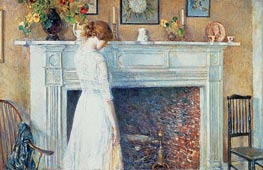 In the Old House, 1914 by Hassam | Painting Reproduction