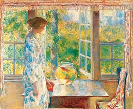 Bowl of Goldfish, 1912 by Hassam | Painting Reproduction