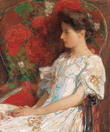 The Victorian Chair, 1906 by Hassam | Painting Reproduction