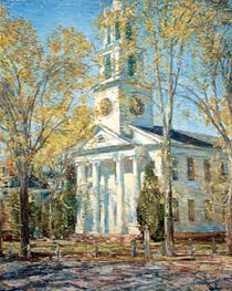 Church at Old Lyme, 1906 by Hassam | Painting Reproduction