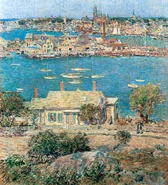 Gloucester Harbor | Hassam | Painting Reproduction