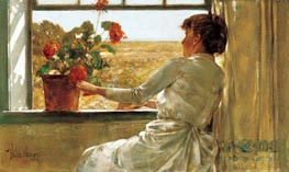 Summer Evening, 1886 by Hassam | Painting Reproduction
