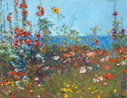 Poppies, Isles of Shoals, c.1890 by Hassam | Painting Reproduction