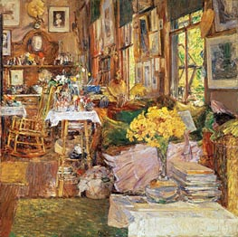 The Room of Flowers, 1894 by Hassam | Painting Reproduction