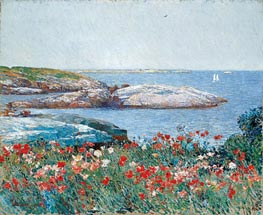 Poppies, Isles of Shoals, 1891 by Hassam | Painting Reproduction