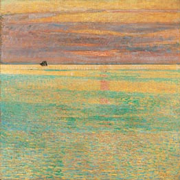 Sunset at Sea, 1911 von Hassam | Gemälde-Reproduktion