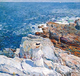 The South Ledges, Appledore, 1913 von Hassam | Gemälde-Reproduktion