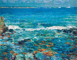 Duck Island from Appledore, 1911 von Hassam | Gemälde-Reproduktion