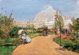 Horticulture Building, World's Columbian Exposition, Chicago, 1983 von Hassam | Gemälde-Reproduktion
