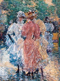 Conversation on the Avenue | Hassam | Painting Reproduction