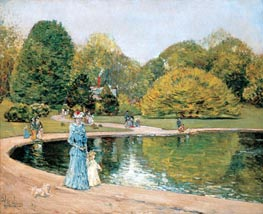 Central Park | Hassam | Painting Reproduction