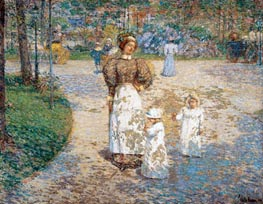 Spring in Central Park (Springtime), 1898 by Hassam | Painting Reproduction