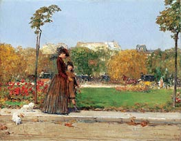 In the Park, 1889 by Hassam | Painting Reproduction